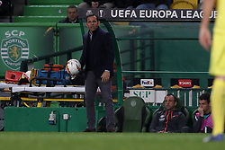 February 14, 2019 - Lisbon, Portugal - Villarreal's head coach Javier Calleja during the UEFA Europa League Round of 32 First Leg football match Sporting CP vs Villarreal CF at Alvalade stadium in Lisbon, Portugal on February 14, 2019. (Credit Image: © Pedro Fiuza/NurPhoto via ZUMA Press)