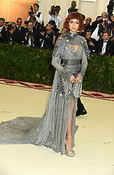 Zendaya in Versace attends the Costume Institute Benefit at the Metropolitin Museum of Art at the opening of Heavenly Bodies: Fashion and the Catholic Imagination on May 7, 2018 in New York, New York, USA.