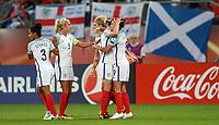 Football - 2017 UEFA Women's European [Euro] Championship - Group D: England vs. Scotland<br /> <br /> Jodie Taylor of England celebrates scoring her third goal at Stadion Gagenwaard, Utrecht.<br /> <br /> COLORSPORT/LYNNE CAMERON
