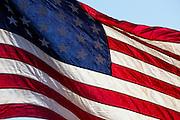 USA, Oregon, Salem, US Flag.