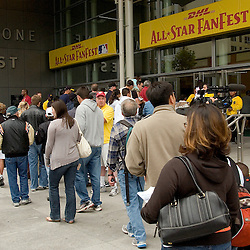 Fans enter the 2007 DHL All-Star FanFest, Saturday, July 7 at Moscone Center West in San Francisco...Photo by David Calvert/MLB.com