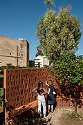 Palermo: Kalsa neighborhood,  The church of santa Maria dello Spasimo , art Installation