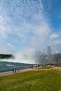 View of Niagara Falls, from Goat Island, Buffalo, New York, USA.