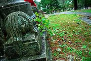 Detail of base of World War 1 memorial, Gradski Park, Korcula, Croatia
