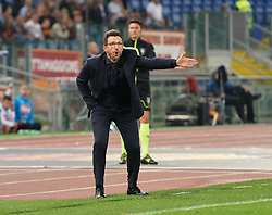 October 14, 2017 - Rome, Italy - Eusebio Di Francesco during the Italian Serie A football match between A.S. Roma and S.S.C. Napoli at the Olympic Stadium in Rome, on october 14, 2017. (Credit Image: © Silvia Lore/NurPhoto via ZUMA Press)
