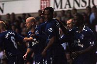 Photo: Tony Oudot.<br /> Tottenham Hotspur v Everton. The Barclays Premiership. 14/08/2007.<br /> Joleon Lescott celebrates his goal for Everton