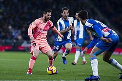 December 8, 2018 - Barcelona, Catalonia, Spain - 10 Leo Messi of FC Barcelona during the Spanish championship La Liga football match between RCD Espanyol v FC Barcelona on December 08, 2018 at RCD Stadium stadium in Barcelona, Spain. (Credit Image: © Xavier Bonilla/NurPhoto via ZUMA Press)