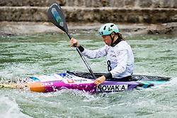 Ajda Novak of Slovenia during Kayak Semi Finals at World Cup Tacen, 17 October 2020, Tacen, Ljubljana Slovenia. Photo by Grega Valancic / Sportida