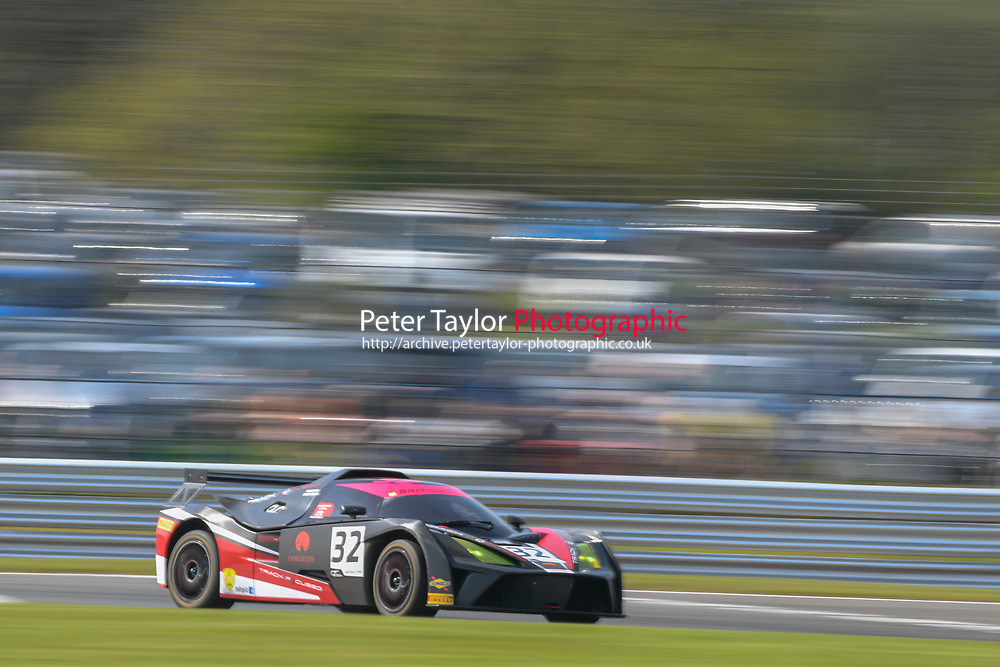 #32 Mike McCollum / Sean Cooper Track Focused KTM X-Bow GT4 Pro/Am GT4  during British GT Championship race one as part of the British F3 / GT Championship at Oulton Park, Little Budworth, Cheshire, United Kingdom. April 22 2019. World Copyright Peter Taylor/PSP. Copy of publication required for printed pictures.