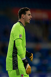 CARDIFF, WALES - Sunday, November 15, 2020: Wales' goalkeeper Daniel Ward during the UEFA Nations League Group Stage League B Group 4 match between Wales and Republic of Ireland at the Cardiff City Stadium. Wales won 1-0. (Pic by David Rawcliffe/Propaganda)