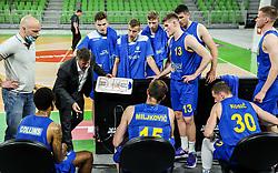 Bostjan Kuhar, head coach of Polzela during 1st Leg basketball match between KK Cedevita Olimpija and KK Hopsi Polzela in Quarterfinals of Nova KBM League 2020/21, on May 4, 2021, in Arena Stozice, Ljubljana, Slovenia. Photo by Vid Ponikvar / Sportida