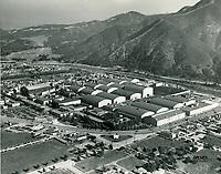 1939 Aerial photo of Warner Bros. Studios in Burbank