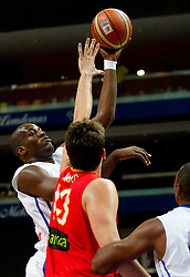 Ali Traore of France during basketball game between National basketball teams of France and Spain at FIBA Europe Eurobasket Lithuania 2011, on September 11, 2011, in Siemens Arena,  Vilnius, Lithuania.  (Photo by Vid Ponikvar / Sportida)