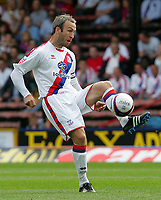 Crystal Palace FC vs Burnley FC Championship 23/08/08<br /> Photo Nicky Hayes/Fotosports International<br /> Palace midfielder Shaun Derry in action.