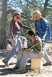 Erin Casey, Jessica Francque & Alexandra Adinamis Having Fun Measuring Alex