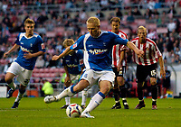 Photo: Jed Wee.<br /> Sunderland v Birmingham City. Coca Cola Championship. 09/08/2006.<br /> <br /> Birmingham's Mikael Forssell puts his team ahead from the penalty spot.
