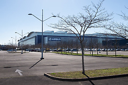 Car park in the A380 production area. Airbus, the European aerospace group, announced the end of production of the A380, February 14, 2019, in Toulouse (France). Twelve years after its commissioning, and failing to find a satisfactory sales market, the decision was made following the withdrawal of some companies and the reduction of recent Emirates orders. The last planes will have to leave the chains of production in 2021. Photo by Patrick BATARD / ABACAPRESS.com