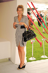 AMBER AIKENS at the Cartier International Polo at Guards Polo Club, Windsor Great Park, Berkshire on 25th July 2010.