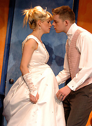 A Respectable Wedding <br /> Translated by Rory Bremner<br /> at the Young Vic Theatre, London, Great Britain <br /> press photocall<br /> 3rd April 2007 <br /> <br /> Jemima Roper ; Russell Tovey <br /> <br /> Photograph by Elliott Franks