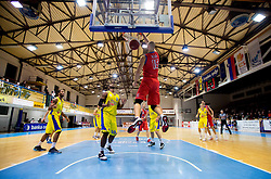 Emir Zimic of Tajfun during basketball match between KK Hopsi Polzela and Tajfun Sentjur of Telemach 1st Slovenian basketball League 2012/13 on November 24, 2012 in Polzela, Slovenia. (Photo By Vid Ponikvar / Sportida)