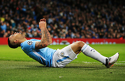 Gabriel Jesus of Manchester City reacts - Mandatory by-line: Matt McNulty/JMP - 07/03/2018 - FOOTBALL - Etihad Stadium - Manchester, England - Manchester City v Basel - UEFA Champions League, Round of 16, second leg