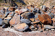 Mined Emery rocks on Naxos, Greek Cyclades Islands