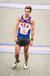 ING New York City Marathon: Ryan Johns, USA, dazed after crossing finish line