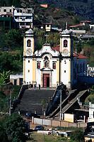 view of the Igreja de Santa Efigenia dos Pretos of the unesco world heritage city of ouro preto in minas gerais brazil