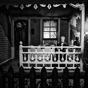Milwaukee County Museum's Streets Of Old Milwaukee: The old lady in a rocking chair on her front porch.