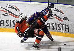 Tomaz Razingar (9) at ice hockey match Acroni Jesencie vs EC Pasut VSV. in EBEL League,  on November 23, 2008 in Arena Podmezaklja, Jesenice, Slovenia. (Photo by Vid Ponikvar / Sportida)