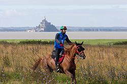 Sh Rashid Dalmook Al Maktoum, (UAE), Nopoli Del Ma - Endurance - Alltech FEI World Equestrian Games™ 2014 - Normandy, France.<br /> © Hippo Foto Team - Leanjo de Koster<br /> 25/06/14