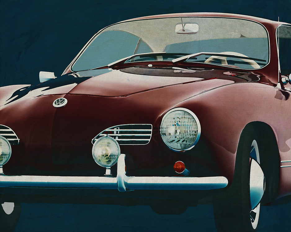 Volkswagen Karmann Ghia<br /> The Volkswagen Karmann Ghia. After the second world war Volkswagen decided that there had to be a model that would boost Volkswagen's image and satisfy demanding car buyers. -<br /> <br /> BUY THIS PRINT AT<br /> <br /> FINE ART AMERICA<br /> ENGLISH<br /> https://janke.pixels.com/featured/volkswagen-karmann-ghia-frontside-jan-keteleer.html<br /> <br /> WADM / OH MY PRINTS<br /> DUTCH / FRENCH / GERMAN<br /> https://www.werkaandemuur.nl/nl/shopwerk/Volkswagen-Karmann-Ghia-1959-Voorkant/572004/132