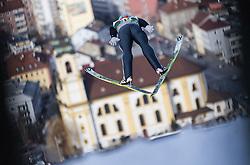 03.01.2014, Bergisel Schanze, Innsbruck, AUT, FIS Ski Sprung Weltcup, 62. Vierschanzentournee, Training, im Bild Tom Hilde (NOR) // Tom Hilde (NOR) during practice Jump of 62nd Four Hills Tournament of FIS Ski Jumping World Cup at the Bergisel Schanze, Innsbruck, <br /> Austria on 2014/01/03. EXPA Pictures © 2014, PhotoCredit: EXPA/ JFK