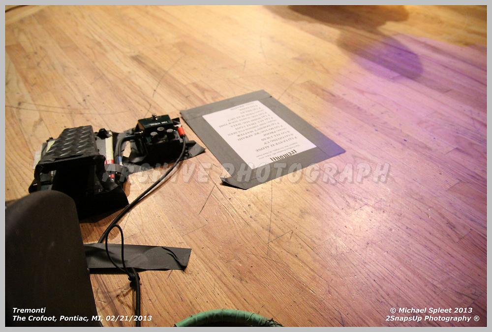 PONTIAC, MI, THURSDAY, FEB. 21, 2013: Tremonti, Set List at The Crofoot, Pontiac, MI, 02/21/2013.  (Image Credit: Michael Spleet / 2SnapsUp Photography)