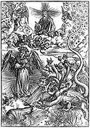 Heaven and Hell by Durer. Albrecht Dürer  1471 –  1528 German painter, printmaker and theorist from Nuremberg.