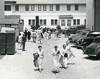 1939 Movie extras at United Artists Studio in Hollywood