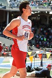 Penn Relayscollege men 4 x 100 relay, race #460, BU, Boston University
