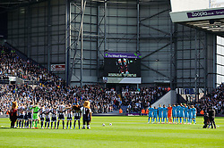 A minutes silence is held before kick-off as a mark of remembrance for the 25th anniversary of the Hillsborough disaster - Photo mandatory by-line: Rogan Thomson/JMP - 07966 386802 - 12/04/2014 - SPORT - FOOTBALL - The Hawthorns Stadium - West Bromwich Albion v Tottenham Hotspur - Barclays Premier League.