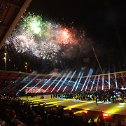 """The Opening Ceremony of the 25th Winter Universiade will be held at the Cemal Gursel Stadium.  The name of the cultural performance to be staged at the opening ceremony of the 25th Winter Universiade, Erzurum is """"Let's meet at the Anatolian peak"""", and the main theme of the performance is Anatolian Civilization and the outstanding personalities and features of the Anatolian Culture. Activities to be performed in the field will be designed with an understanding suitable to the concept of Winter Universiade, and activities of light, sound, dance and fireworks included as well.  Historical parts of the show – folklore and culture of the civilizations and nations who lived in the land of Anatolia – and the story of modern Turkey will be exhibited by the performance groups in modular stage settings seen during their the 2011 Winter Universiade, or 25th Winter University Games at the Cemal Gursel stadium  in Turkey in Erzurum Turkey on Thursday 27 January 2011. Photo by TURKPIX"""