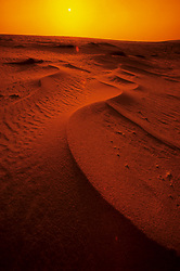 Sand dunes in the Rub al Khalil or Empty Quarter desert of Saudi Arabia.