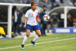 February 27, 2019 - Chester, PA, U.S. - CHESTER, PA - FEBRUARY 27: England Forward Nikita Parris (7) fields the ball in the first half during the She Believes Cup game between Brazil and England on February 27, 2019 at Talen Energy Stadium in Chester, PA. (Photo by Kyle Ross/Icon Sportswire) (Credit Image: © Kyle Ross/Icon SMI via ZUMA Press)