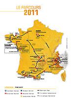 CYCLING - TOUR DE FRANCE 2011 PRESENTATION - PARIS (FRA) - 19/10/2011 - THE MAP<br />  - PHOTO: FRANCK FAUGERE / DPPI