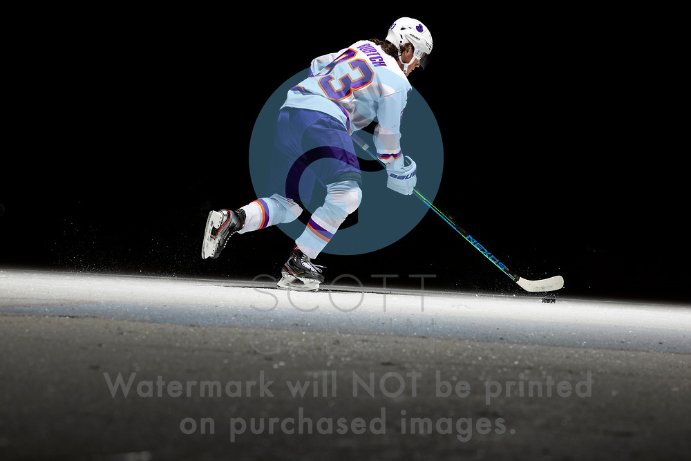 Youngstown Phantoms player photo shoot on April 14, 2021. <br /> <br /> Cole Burtch, forward, 93