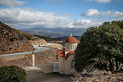 The Church of Agio Pnevma - south of Strovles in the mountains on the Greek island of Crete.