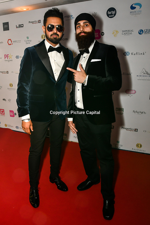 Gippy Grewal is an actor attend the BritAsiaTV Presents Kuflink Punjabi Film Awards 2019 at Grosvenor House, Park Lane, London,United Kingdom. 30 March 2019