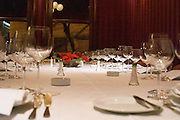 the dining table set for guests The Oviedo Restaurant, Buenos Aires Argentina, South America