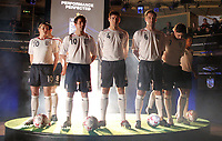 Photo: Paul Thomas.<br />England Kit Launch. 05/02/2007.<br /><br />England captain John Terry (6) and current Women and Men England players show off the new England Kit, Ball and Boots.