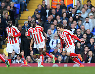 Stoke's Bojan Krkic celebrates scoring his sides opening goal<br /> <br /> - Barclays Premier League - Tottenham Hotspur vs Stoke City- White Hart Lane - London - England - 9th November 2014  - Picture David Klein/Sportimage