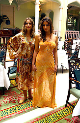 Left to right, LAURE DE CLERMONT-TONNERRE and SASKIA BOXFORD at a fashion show of Sybil Stanislaus Summer 2005 collection with jewellery by Philippa Holland held at The Lanesborough Hotel, Hyde Park Corner, London on 13th April 2005.<br /><br />NON EXCLUSIVE - WORLD RIGHTS