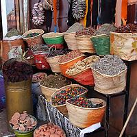 Africa, Morocco, Marrakech. Spices of the mellah of Marrakech.
